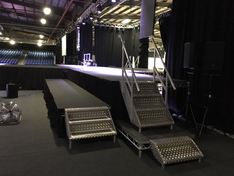 Stage for event in Manchester