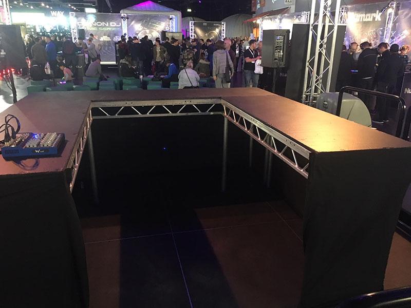 DJ Risers on stage
