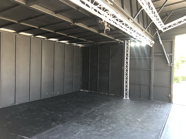 ES40 stage for concerts