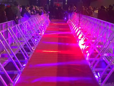 Pit barrier walkways