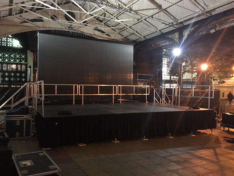 Stages come with one set of treads/steps. Additional treads/steps can be added to any stage on request.
