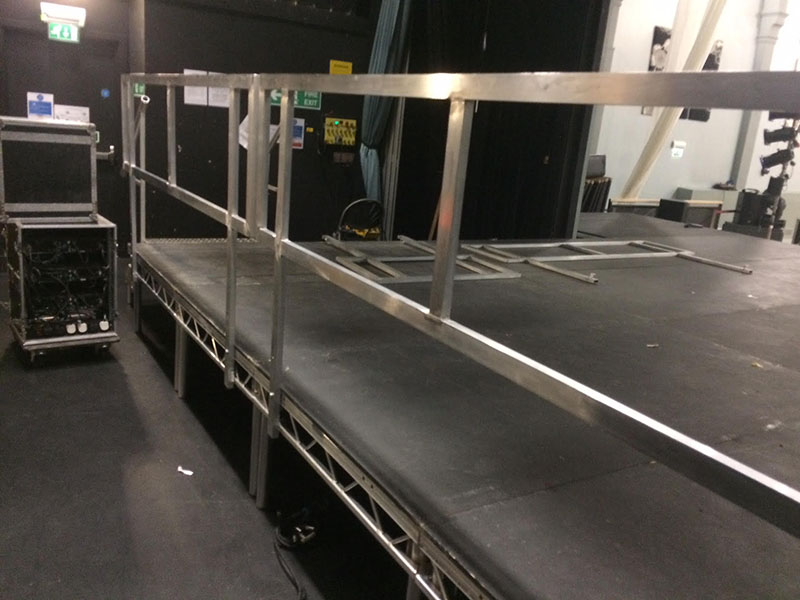 We can supply handrails/safety rails to any stage if required.