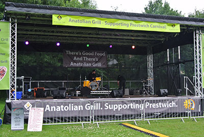 Mobile stage at Food Festival