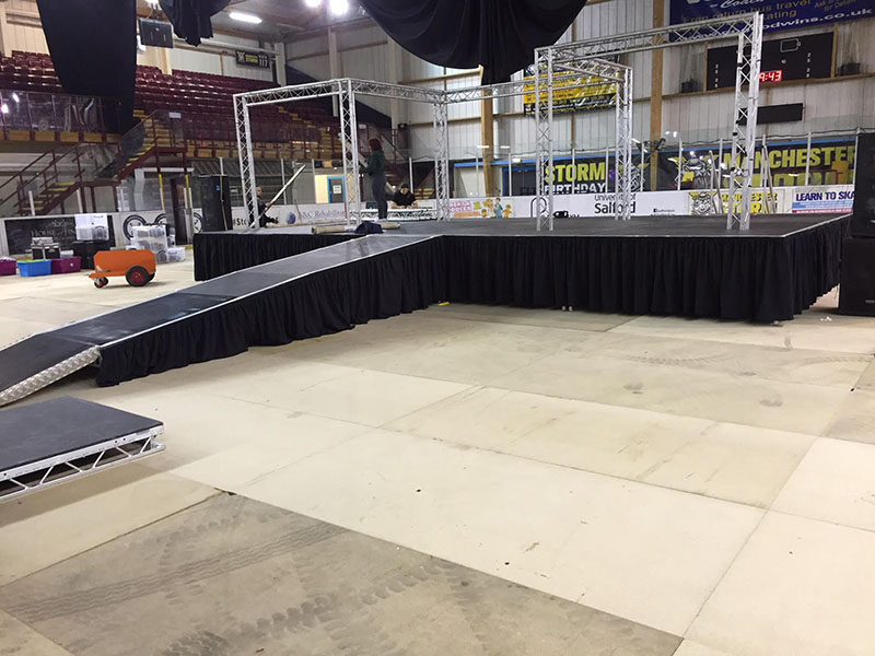 Ramps to stage