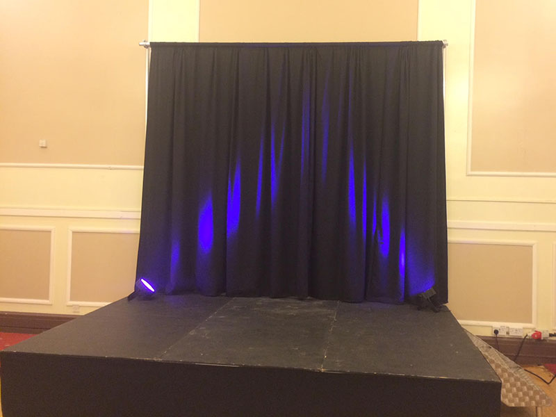 We can provide different stages for all events.